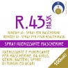 Spray igienizzante mascherine
