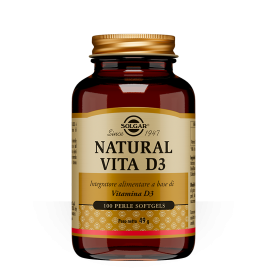 NATURAL VITA D 3 SOLGAR 100 PERLE SOFTGELS