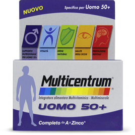 MULTICENTRUM UOMO 50 + 30 COMPRESSE